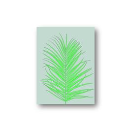 Palmblatt, neongrün, gezeichnet