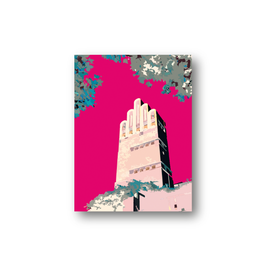 Poster, Hochzeitsturm Darmstadt, pink