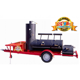 "Joes BBQ Smoker 24"" Etended Catering Smoker Trailer"
