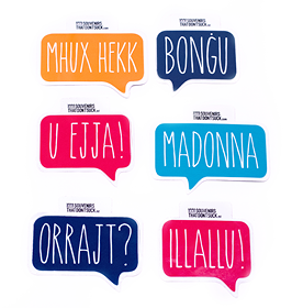 Speak Maltese Sticker Set