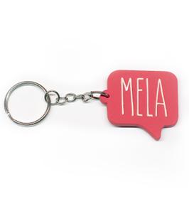 Mela Speech Bubble Keychain