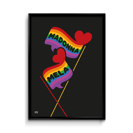 Rainbow Speak Maltese Poster
