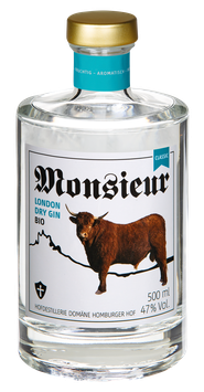 Monsieur London Dry Bio Gin CLASSIC – 47 % VOL.