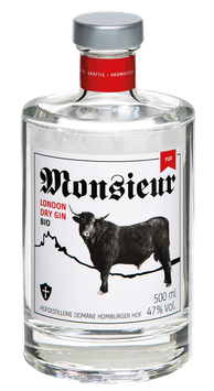 Monsieur London Dry Bio Gin PUR – 47 % VOL.