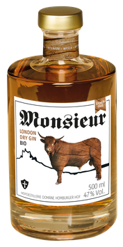 Monsieur London Dry Bio Gin EICHENFASS 47 % VOL.