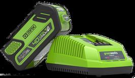 Caricabatterie Greenworks 40V, G40UC4