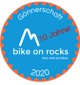 bike on rocks Gönnerschaft 2020