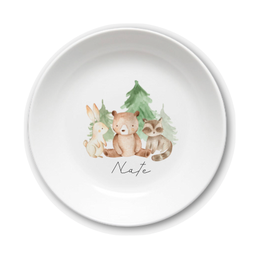 Kids plate with name three friends