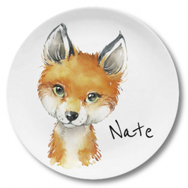 Large plate with name fox Nate
