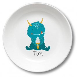 Kids plate with name monster