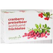Cranberry Preiselbeer Früchtetee, 20 Filterbeutel