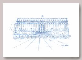 Carte A5 Lyon Palais de Justice 24 colonnes