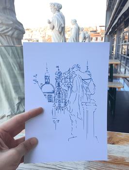 Grande Carte A5 Muses Opéra de Lyon - Hôtel de Ville