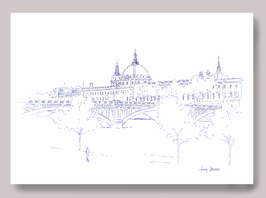 Illustration A3 Grand Hôtel Dieu Vue Pont Wilson