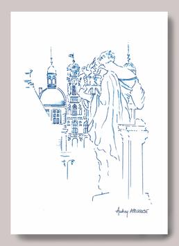 Carte postale A5 Muses  Opéra de Lyon - Hôtel de ville