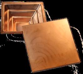 Agnihotra-Topf aus Kupfer, mit Deckel