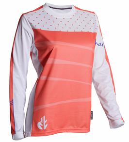 DHaRCO Long Sleeve Jersey - Polka Dot Peach