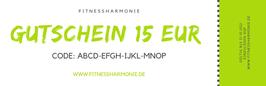 Gutschein im Wert von EUR 15,00
