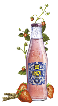 Indi Strawberry Premium Tonic