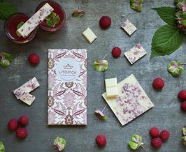 Utopick White Chocolate - Himbeeren, Rosenwasser