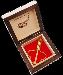 GOLD MAULTROMMEL LYRA - HOLZ ETUI