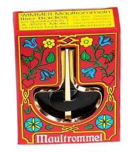 GOLDENE MAULTROMMEL IN GESCHENKVERPACKUNG