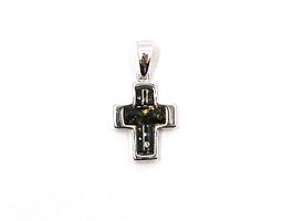 Bernstein Anhänger Kreuz Silber 925