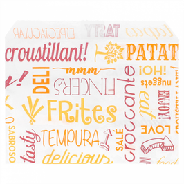 Sacchetto Patatine Fritte antigrasso  cm. 12x9  - 1.000 pezzi