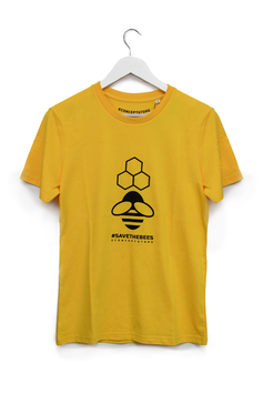 T-SHIRT #SAVE THE BEES - Mod. Uomo giallo