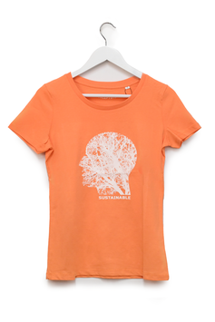 """T-SHIRT """"SUSTAINABLE"""" - Woman - Melon"""