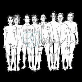 Vielfältige Körperbilder, Din A5