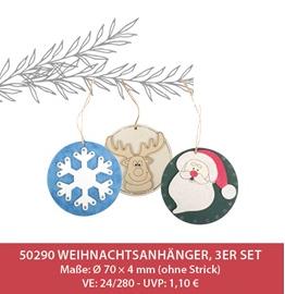 Weihnachtsanhänger, 24 Stk.