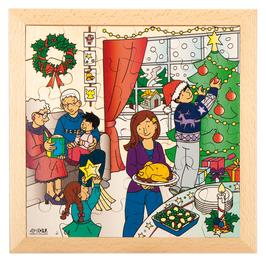 Puzzle Feierlichkeiten, Weihnachten                 Format: 28 x 28 cm, jeweils 36 Teile