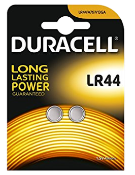 DURACELL piles bouton LR44