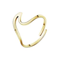 Edelstahl Ring Welle Gold