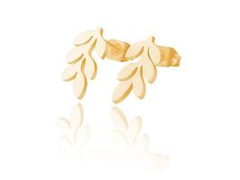 Edelstahl Ohrstecker Blätter Rosegold