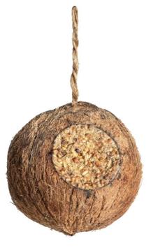 Kokosnuss vegan Futter für Wildvögel
