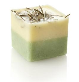 1 Stück Ovis Schafmilch-Badewürfel mit Zirbenduft 3,3 cm ca. 50 g