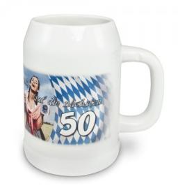 Bierkrug weiß oder grau 500 ml