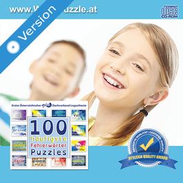 Wort-Puzzle, Computerspiel mit Fehlerwörter-Puzzles