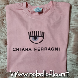 Tshirt Chiara rosa garofano