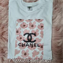 Tshirt Cc Flowers pink