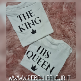 Tshirt coppia King & Queen