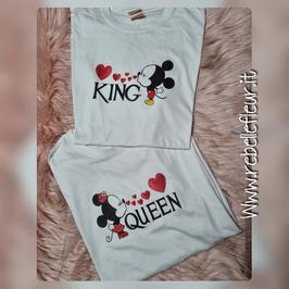 Tshirt King and Queen Minnie e topolino
