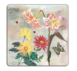 Untersetzer Blumen quadratisch