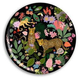 Tablett Leopard groß rund