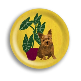 Mini-Tablett Hund gelb