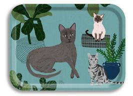 Tablett Katzen klein