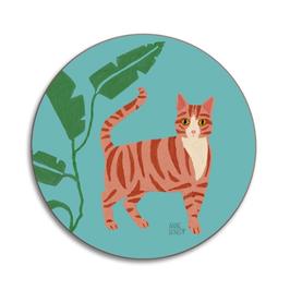 Mini-Katzenuntersetzer fussige Katze