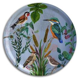 Tablett Vögel groß rund